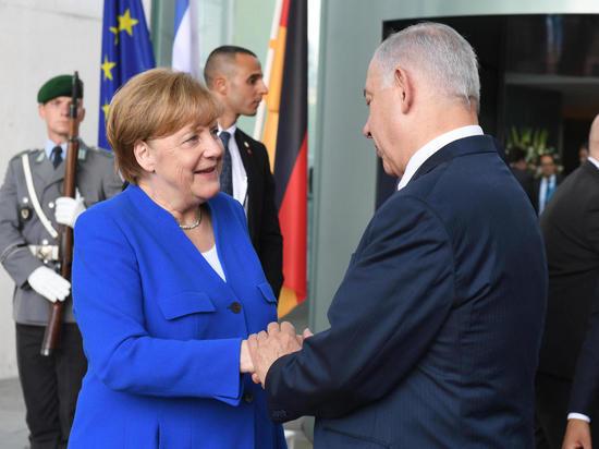 Премьер-министр Биньямин Нетаниягу встретился с канцлером Германии Ангелой Меркель в Берлине