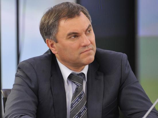Володин призвал законодательно решить проблему оскорблений руководства РФ в СМИ