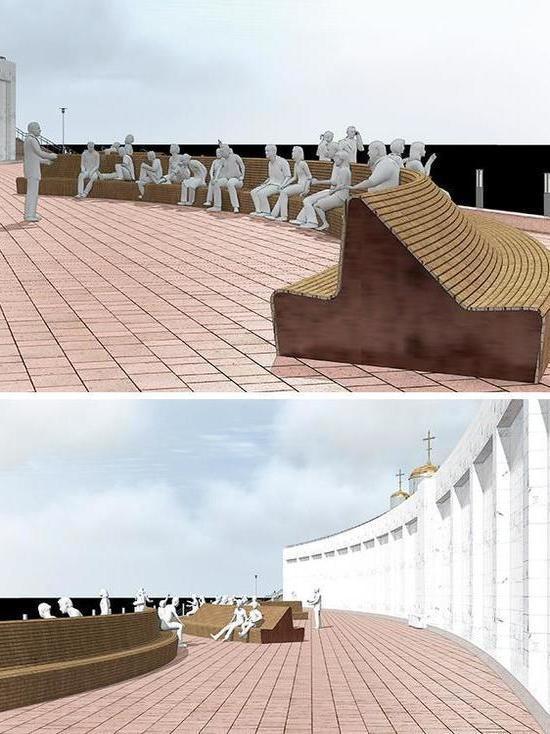 В Самаре у стены на площади Славы установят 50-метровые скамьи