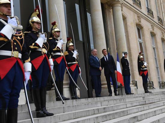Встреча премьер-министр Биньямина Нетаниягу с президентом Франции Эммануэлем Макроном