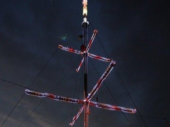В Саранске на подсветку 182-метровой телебашни ушло 75 тысяч светодиодов