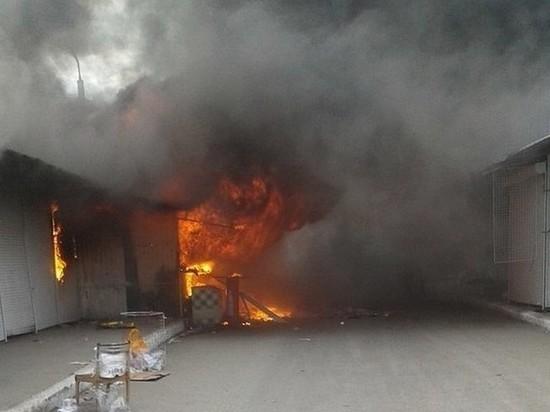 В Самаре горел Кировский вещевой рынок