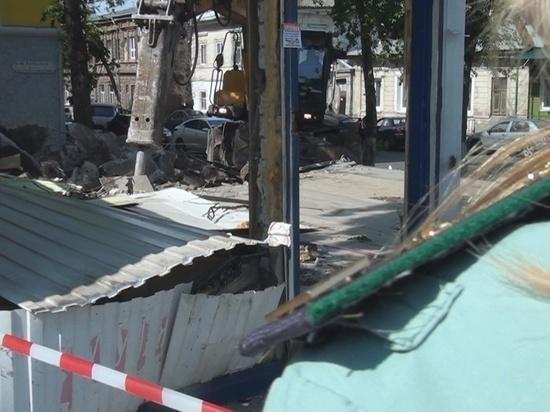 В Самаре снесли незаконный магазин