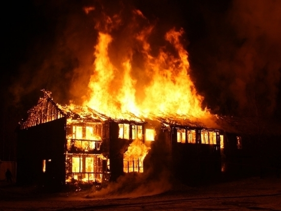 При пожаре в Димитровграде пострадал мужчина