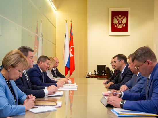 Андрей Бочаров встретился с руководителем энергетической компании