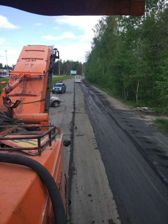 Движение на дороге между Петрозаводском и Лососинным затруднено из-за ремонта