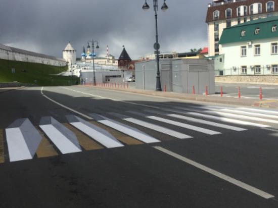 В Казани перед мэрией появилась зебра 3D