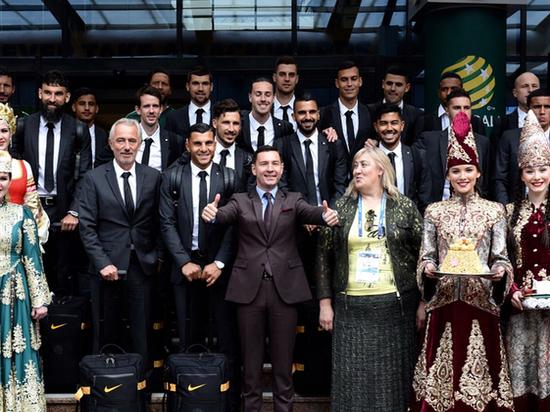 Сборная Австралии по футболу прибыла в Казань