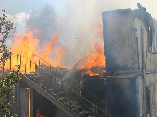 Общежитие сгорело дотла в Малоярославце