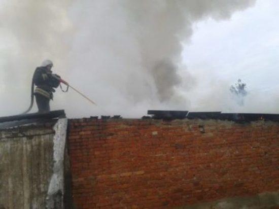 В Кимовском районе сгорел жилой дом