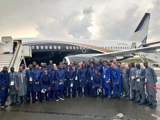 Сенегальцы прилетели в Калугу на ЧМ-2018
