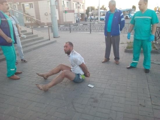 Пьяный белгородец, устроивший танцы на дороге, задержан