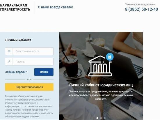 Барнаульская горэлектросеть запустила «Личный кабинет» для своих клиентов