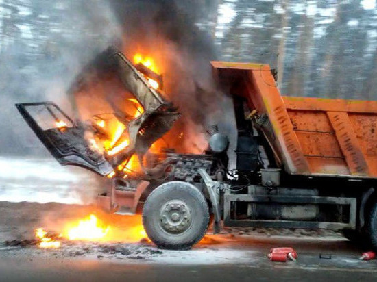 В Ульяновске горел «КАМАЗ»