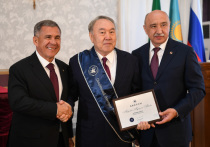 Президенту Казахстана Нурсултану Назарбаеву присвоили звание почетного доктора КФУ