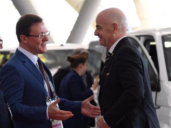 На матче Коста-Рика – Сербия в Самаре побывал президент ФИФА Джанни Инфантино