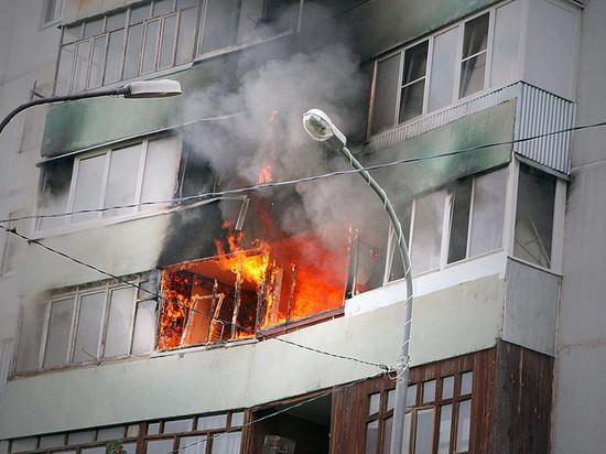 В Ульяновске горел балкон жилого дома