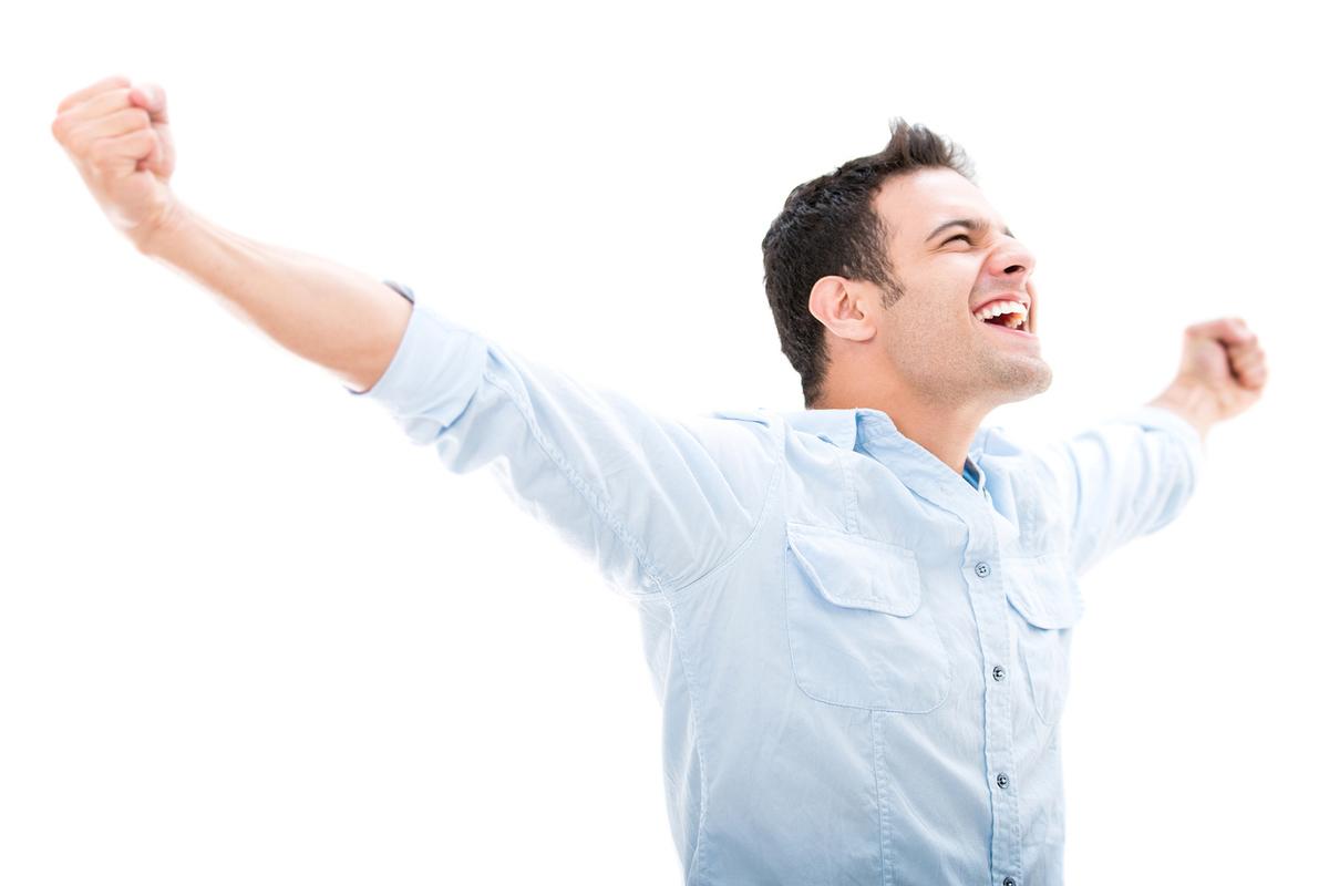 Открытки счастливый мужчина
