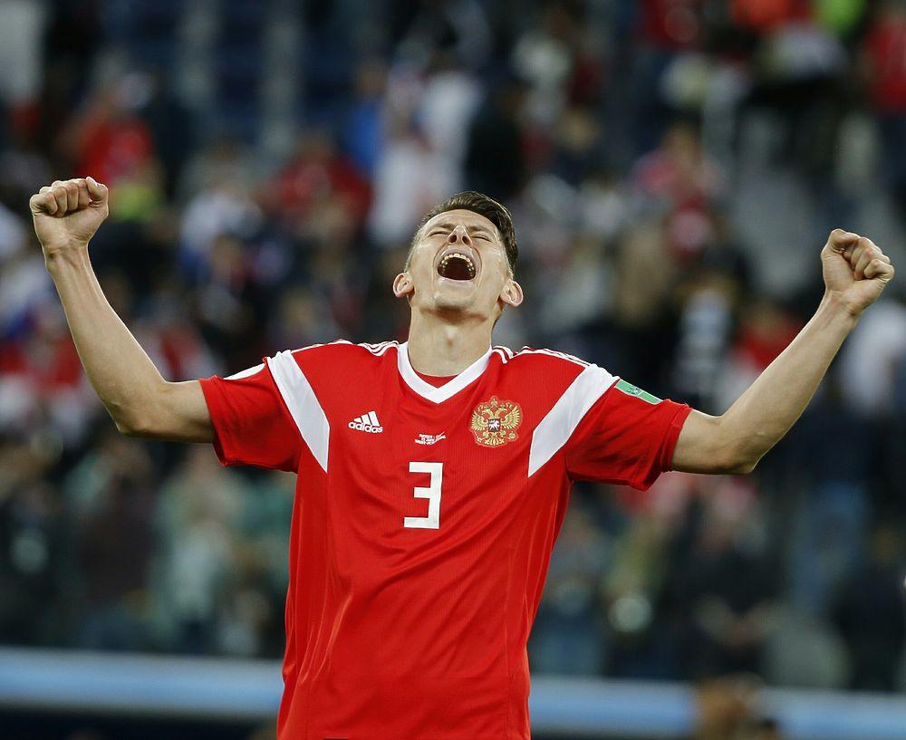 Лучшие моменты победного матча ЧМ-2018 Россия-Египет в фотографиях
