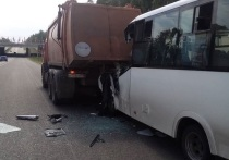 В Татарстане при столкновении микроавтобуса и мусоровоза пострадали шесть человек