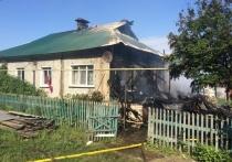 В Порецком горел жилой дом на две квартиры