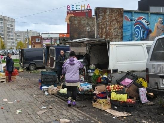 Власти Петрозаводска будут устраивать рейды по стихийным рынкам по несколько раз в день