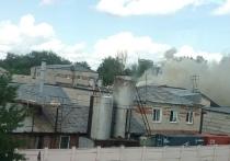 Пожар в здании хлебзавода в Барнауле локализовали пожарные