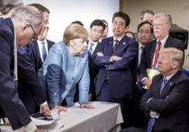 Недовольный Трамп на саммите G7 швырнул в Меркель конфетами