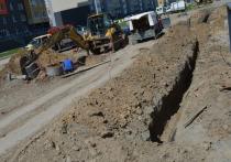 В Барнауле строители оборвали электролинию при земляных работах