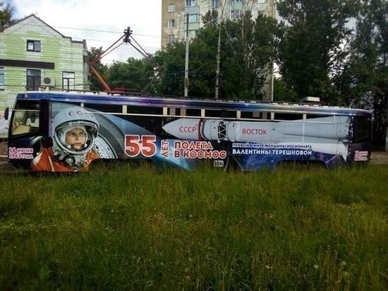 В Ярославле на маршрут вышел трамвай-ракета