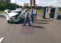 В Тольятти перевернулась маршрутка
