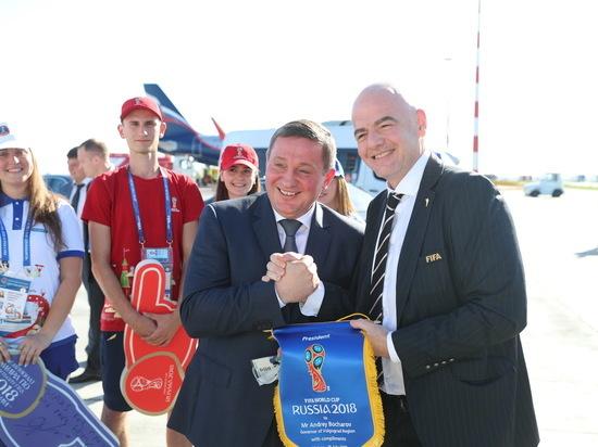 Президент ФИФА Джанни Инфантино посетил Волгоград