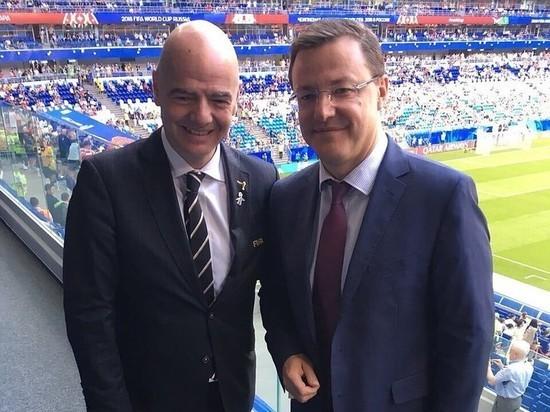 Президент FIFA ДжанниИнфантиноснова посетил Самару
