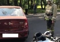 Мотоциклист попал под колеса