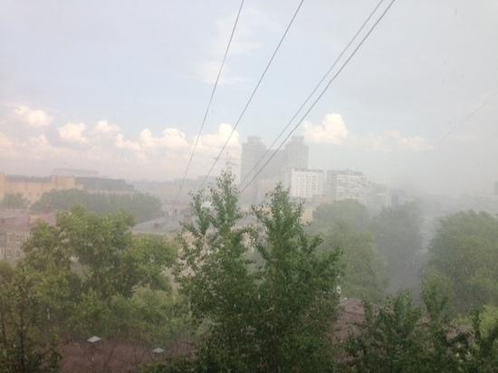 В Москве прошел град размером с горох