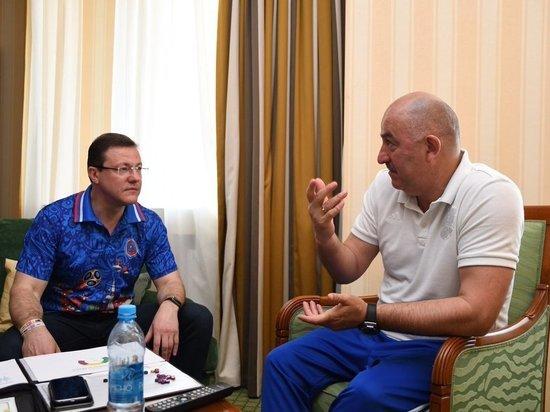 Дмитрий Азаров встретился с главным тренером сборной России Станиславом Черчесовым