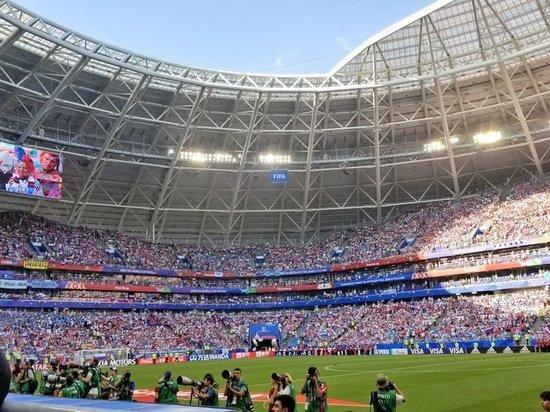 Сборная России уступила команде Уругвая на «Самара-Арене» со счетом 0:3