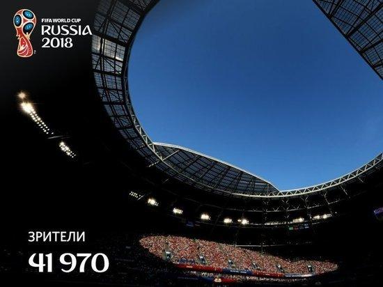Матч Россия – Уругвай в Самаре посетили 41 970 болельщиков