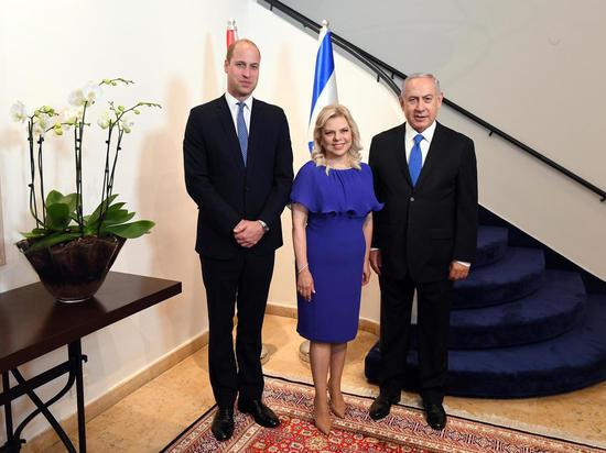 Премьер-министр Биньямин Нетаниягу c супругой приняли принца Уильяма