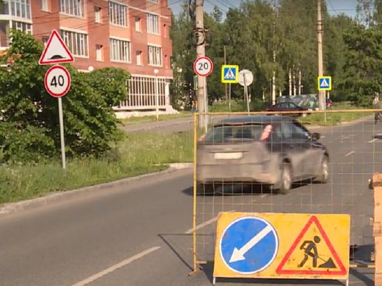 Сегодня в Архангельске из-за канализации на неделю перекрыли проспект Ломоносова