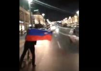 В Омске горожане вышли на улицы праздновать победу сборной России по футболу над Испанией
