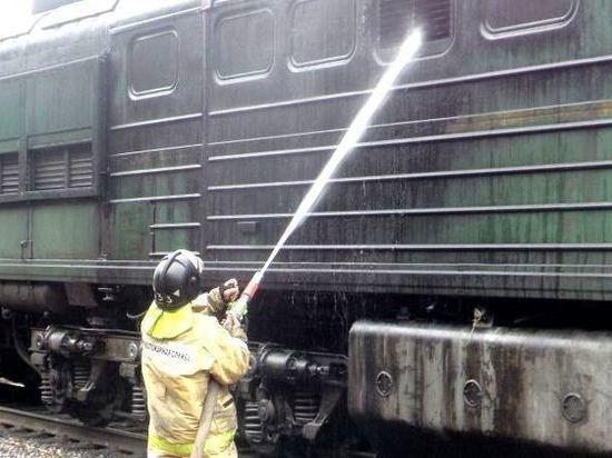 Пожар в товарном поезде под Костромой обошелся без жертв