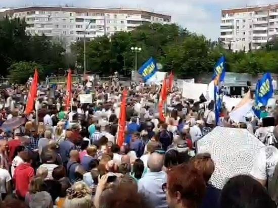 В Омске прошел самый многолюдный в России митинг против пенсионной реформы
