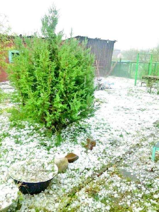 На Кубани в июне прошел ледяной дождь