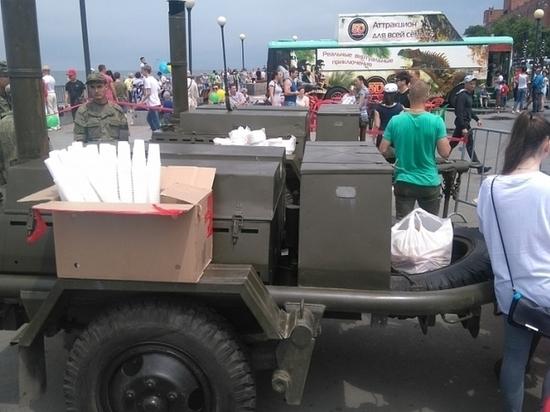 Бесплатной ухой накормят людей в Приморье