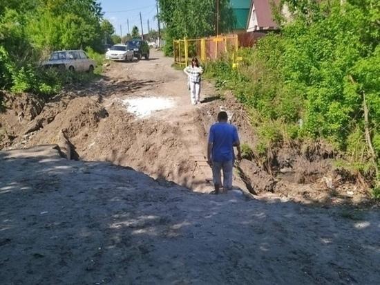Жители Барнаула просят починить разрушенный мост через Пивоварку