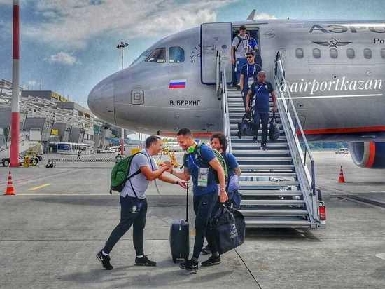 Сборная Бразилии прибыла в Казань