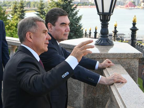 Рустам Минниханов встретился в Казани с президентом Туркменистана Гурбангулы Бердымухамедовым