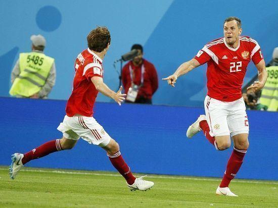 Закончился первый тайм матча Россия-Хорватия