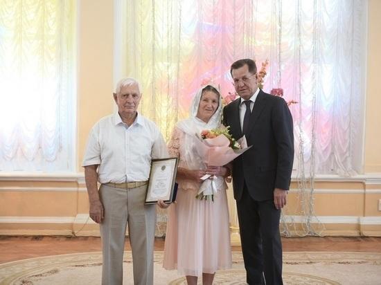Родители астраханского губернатора отметили 60-летний юбилей семьи